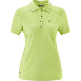 Maier Sports Pandy Polo Shirt Women, lightgreen allover